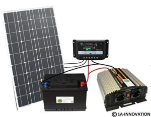 Komplette 220V Solaranlage TÜV Akku 100W Solarmodul