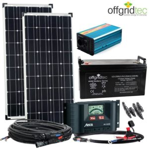 200W Solar - 1000W AC Leistung 12V 230V