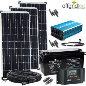 12V Solaranlage Autark XL-Master 300W Solar